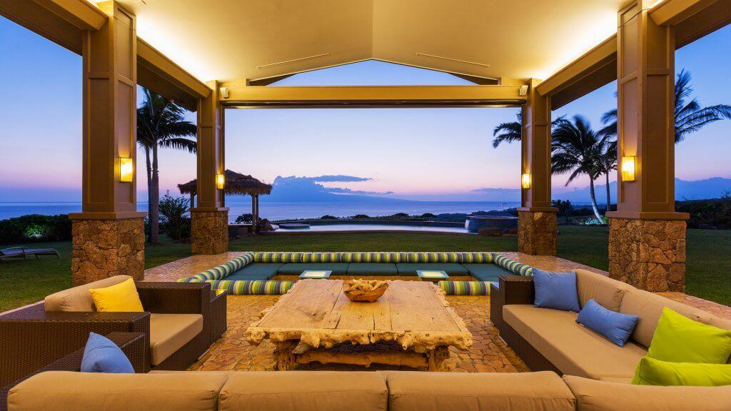 Luxury outdoor patio