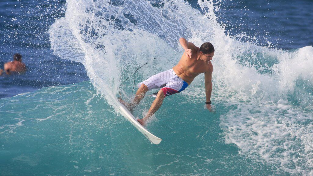 Andy Irons surfing