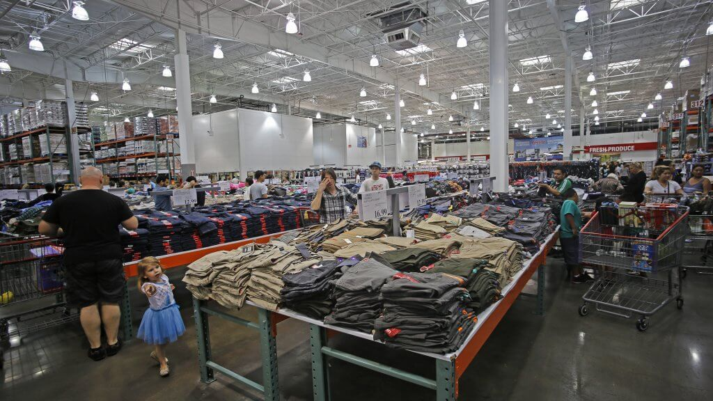 inside of a costco store