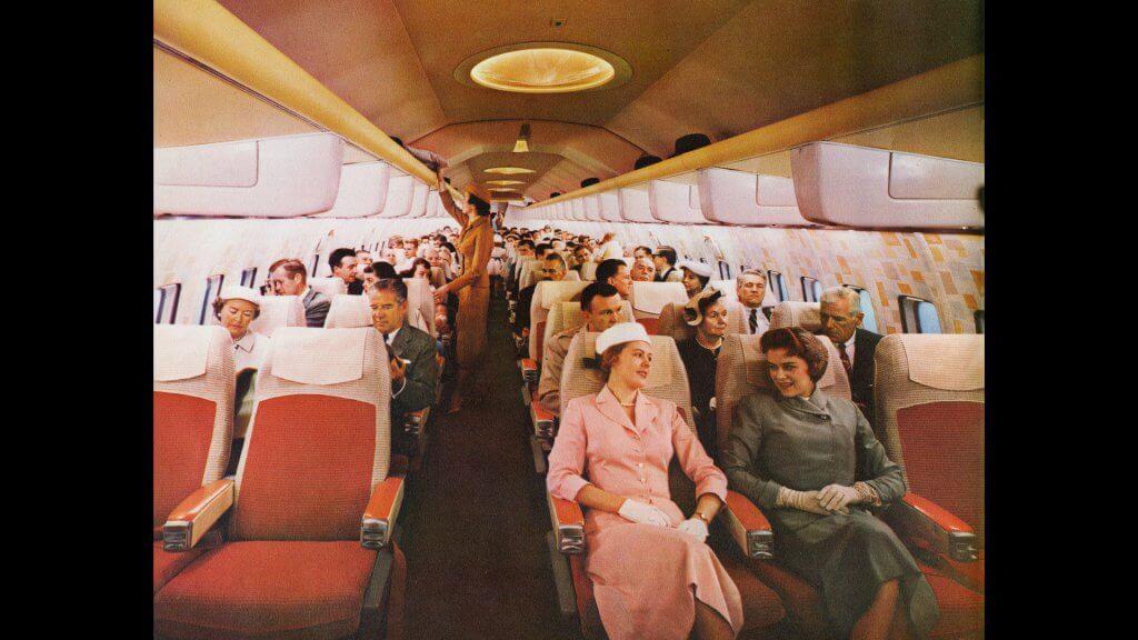 Boeing 707 passenger cabin