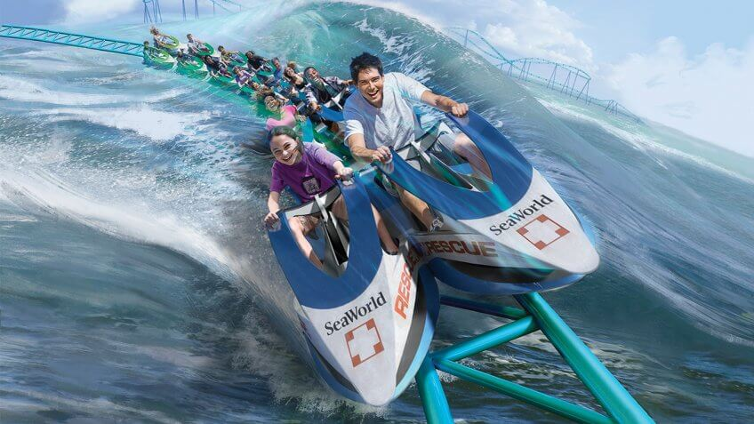 Wave Breaker The Rescue Coaster at SeaWorld San Antonio