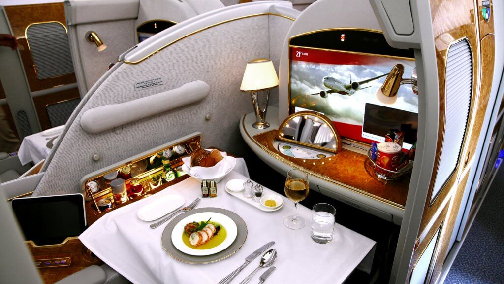 first class airline suite