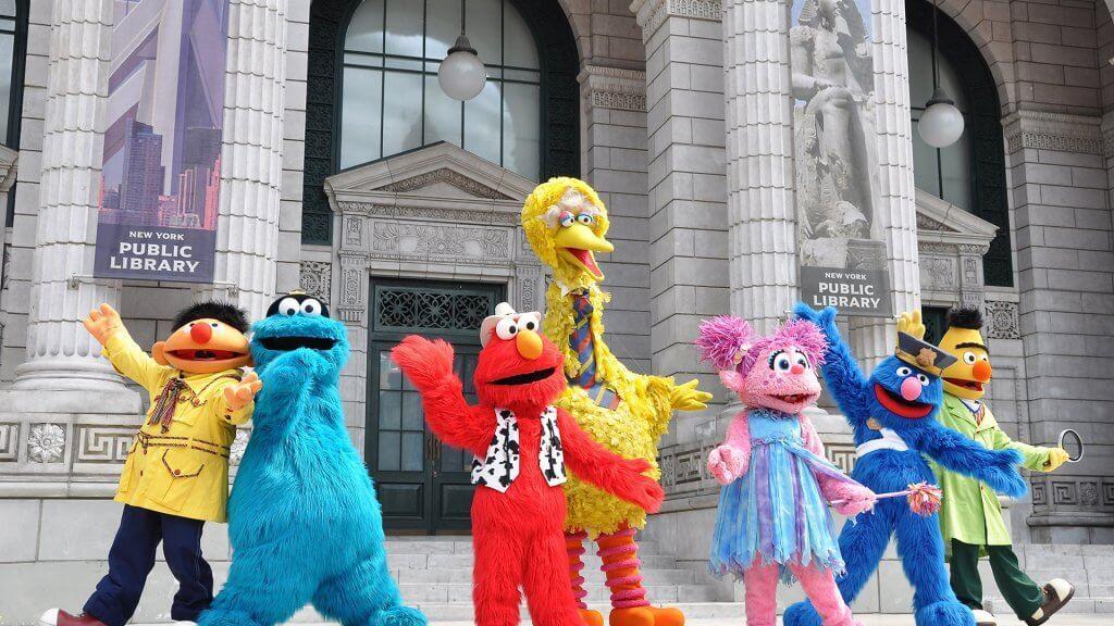 sesame street characters performing