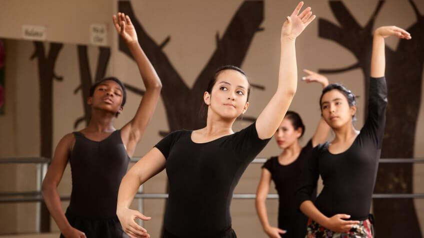 taking dance class