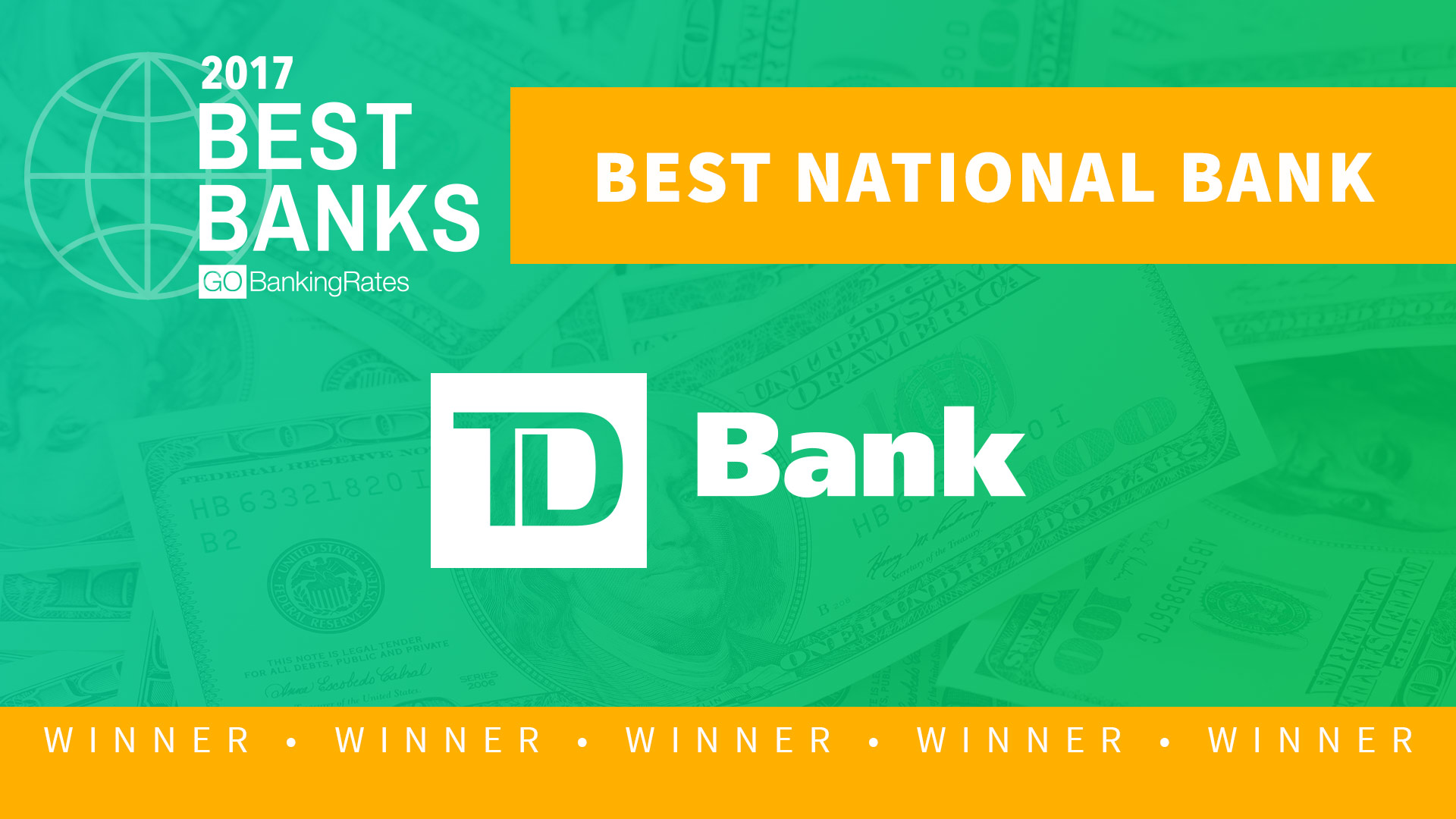 Best National Bank Of 2017 Td Bank Gobankingrates