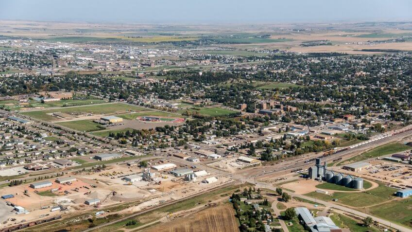 Aerial Photos of Dickinson ND.