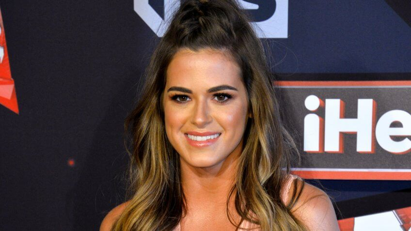 LOS ANGELES, CA - MARCH 5, 2017: JoJo Fletcher at the 2017 iHeartRadio Music Awards at The Forum, Los Angeles.