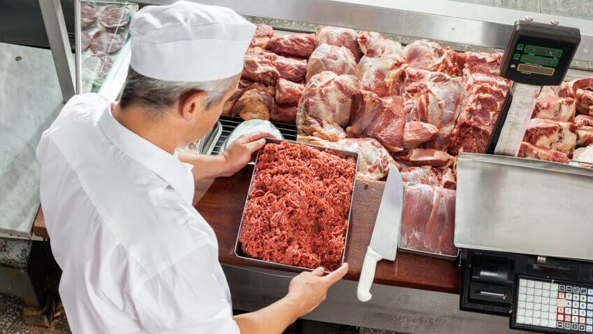 butcher, butcher processing, meat