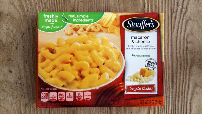 PHOENIX, ARIZONA, JULY 28, 2017: Box of Stouffers Macaroni and Cheese.