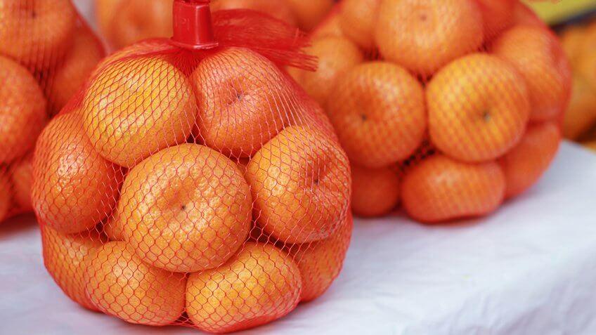bagged produce, fruit, oranges, produce
