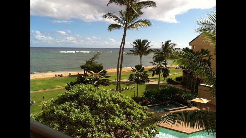 Tropical Paradise at Kauai's Coconut Beach