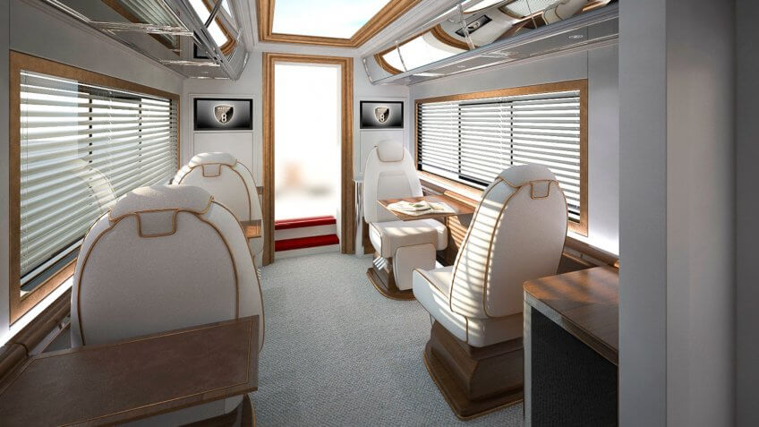 trailer seating area