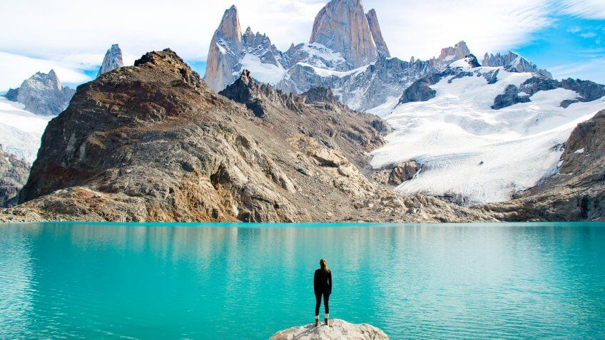 Fitz Roy Mountain Patagonia.
