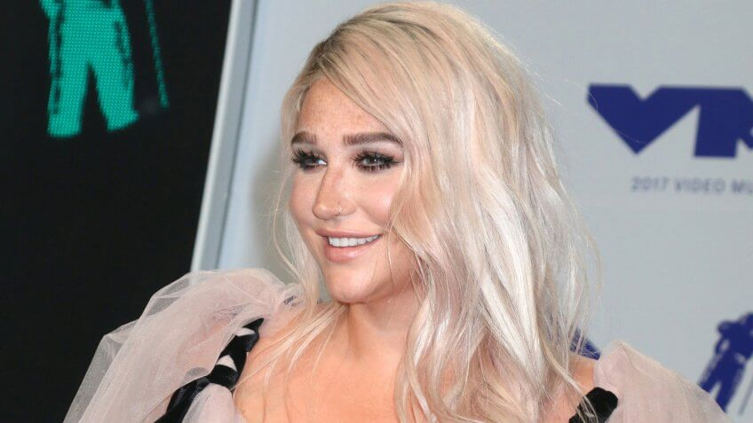 LOS ANGELES - AUG 27: Kesha at the MTV Video Music Awards 2017 at The Forum on August 27, 2017 in Inglewood, CA.