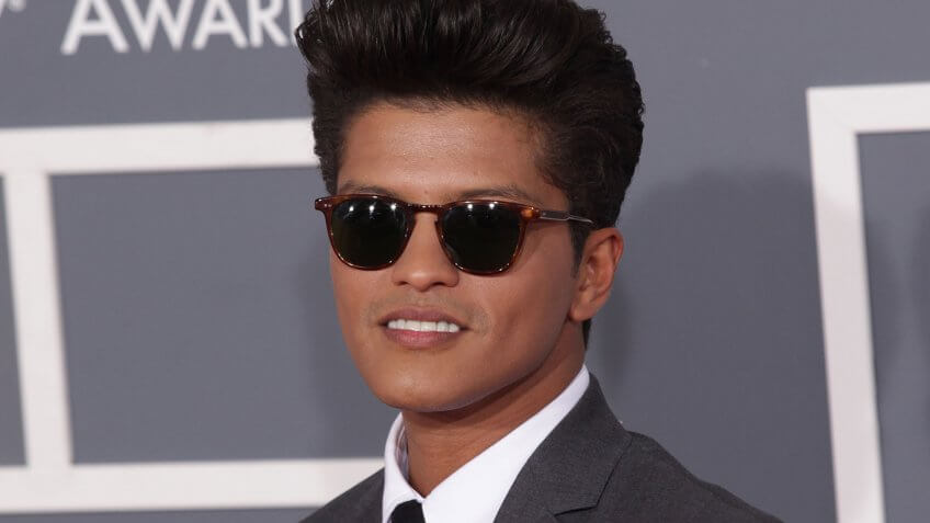 LOS ANGELES - FEB 12: BRUNO MARS arriving to Grammy Awards 2012 on February 12, 2012 in Los Angeles, CA.