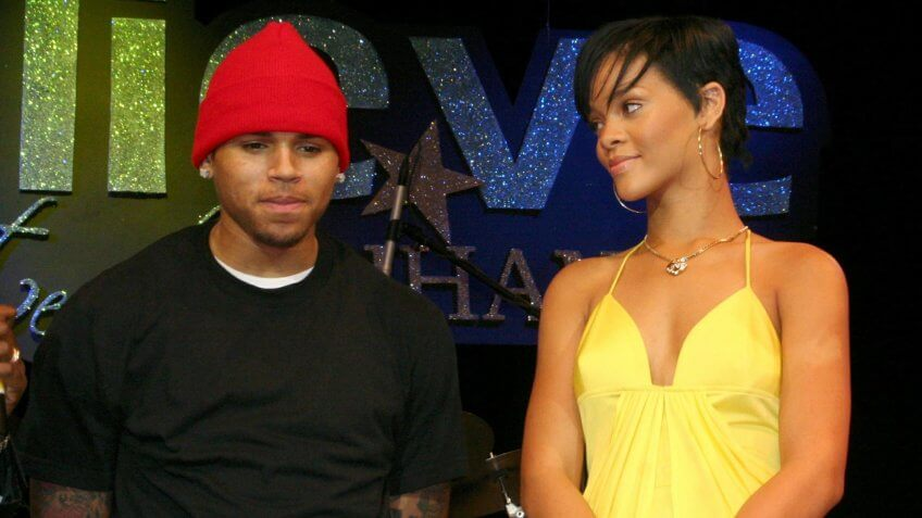 Mandatory Credit: Photo by David Crichlow/REX/Shutterstock (739616ak)Chris Brown on stage with Rihanna at a special concert to celebrate her Grammys winRihanna on her return home to Barbados, West Indies - 21 Feb 2008The small island of Barbados has caught Rihanna fever after the singer flew home to celebrate her birthday.