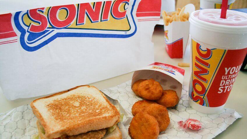 Sonic, White Castle* fast food, eateries, restaurants