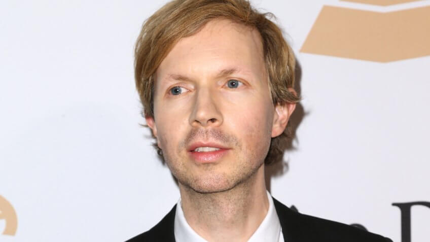 Mandatory Credit: Photo by John Salangsang/Invision/AP/REX/Shutterstock (9054121er)Beck arrives at the 2016 Clive Davis Pre-Grammy Gala at the Beverly Hilton Hotel, in Beverly Hills, Calif2016 Clive Davis Pre-Grammy Gala - Arrivals, Beverly Hills, USA.