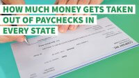 How Much Money Gets Taken Out of Paychecks in Every State