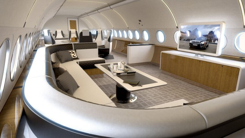 Inside The Most Luxurious Private Jets And What They Cost