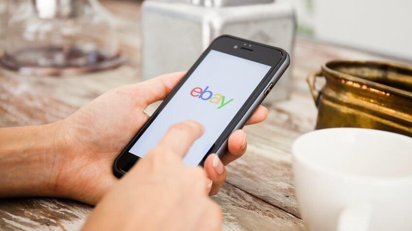 using ebay on a smartphone