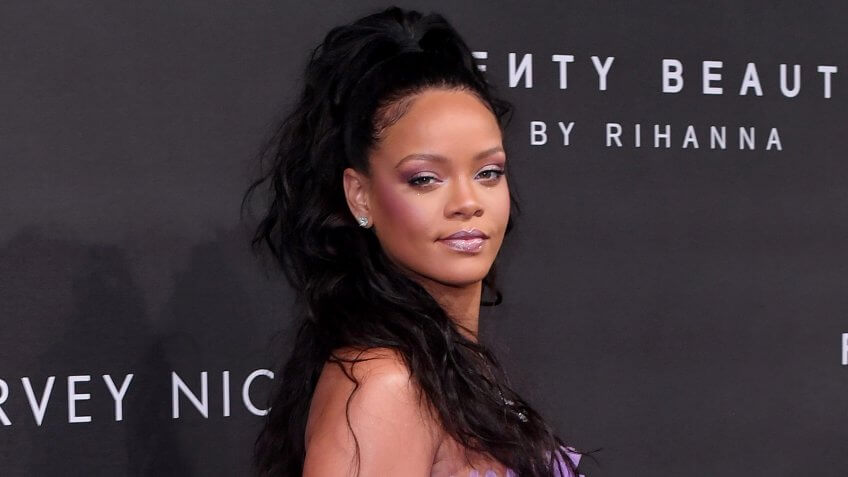 Mandatory Credit: Photo by David Fisher/REX/Shutterstock (9067382ai)RihannaFenty Beauty by Rihanna launch party, Arrivals, Harvey Nichols, Spring Summer 2018, London Fashion Week, UK - 19 Sep 2017.