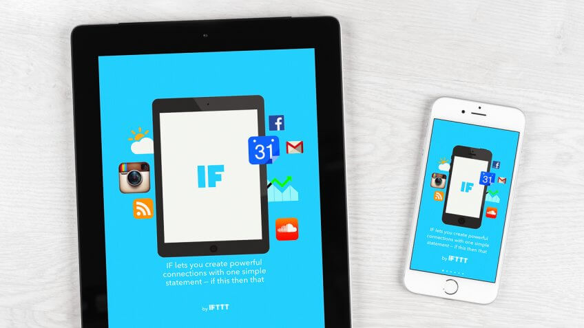 IFTTT on tablet and iphone
