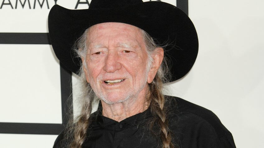 LOS ANGELES - JAN 26: Willie Nelson arrives at the 56th Annual Grammy Awards Arrivals on January 26, 2014 in Los Angeles, CA.