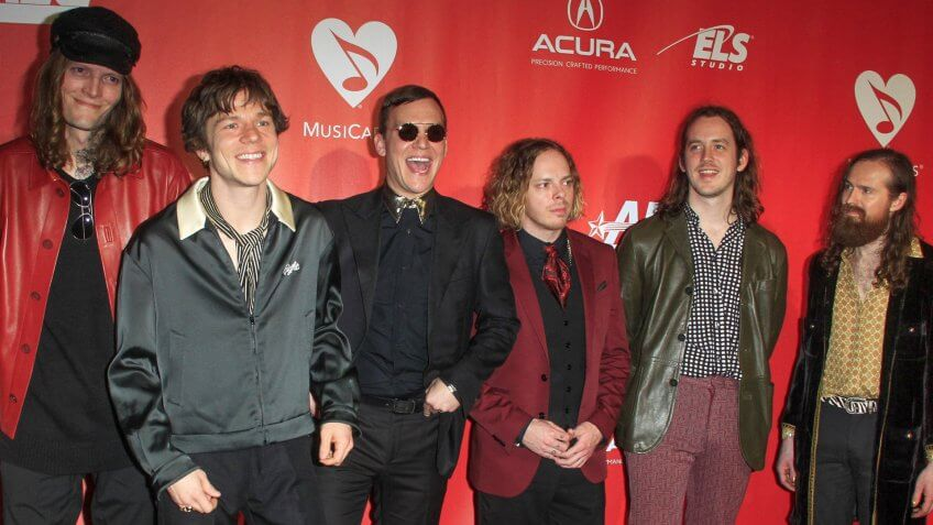 LOS ANGELES - FEB 10: Cage The Elephant at the Musicares Person of the Year honoring Tom Petty at Los Angeles Convention Center on February 10, 2017 in Los Angeles, CA.