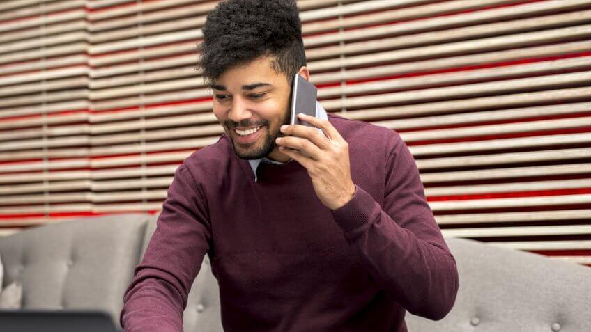 man-smartphone-call
