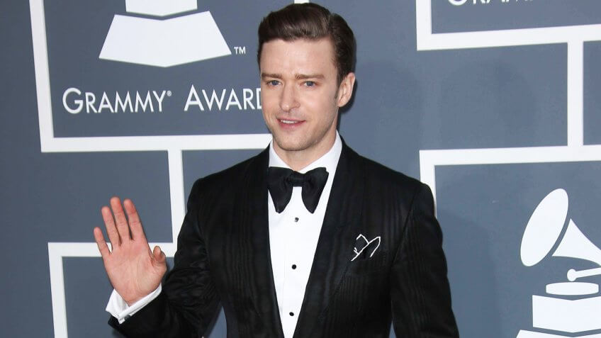 Justin Timberlake at the 55th Annual GRAMMY Awards, Staples Center, Los Angeles, CA 02-10-13.