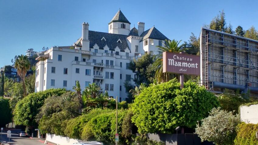 Chateau Marmont in the Hollywood Hills