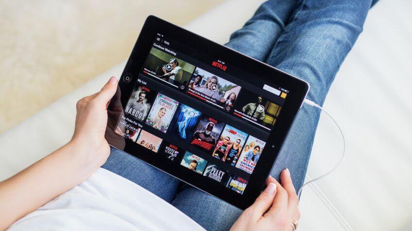 Netflix open on ipad