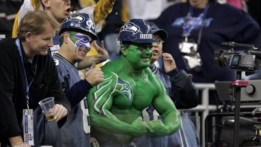 Super Bowl Seattle Seahawks fan