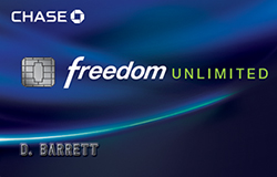 Chase Freedom Unlimited Credit Card: $150 Bonus
