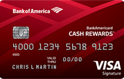 BankAmericard Cash Rewards Credit Card: $100 Bonus