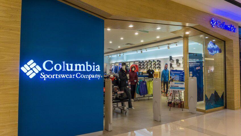 Columbia Sportswear Company storefront