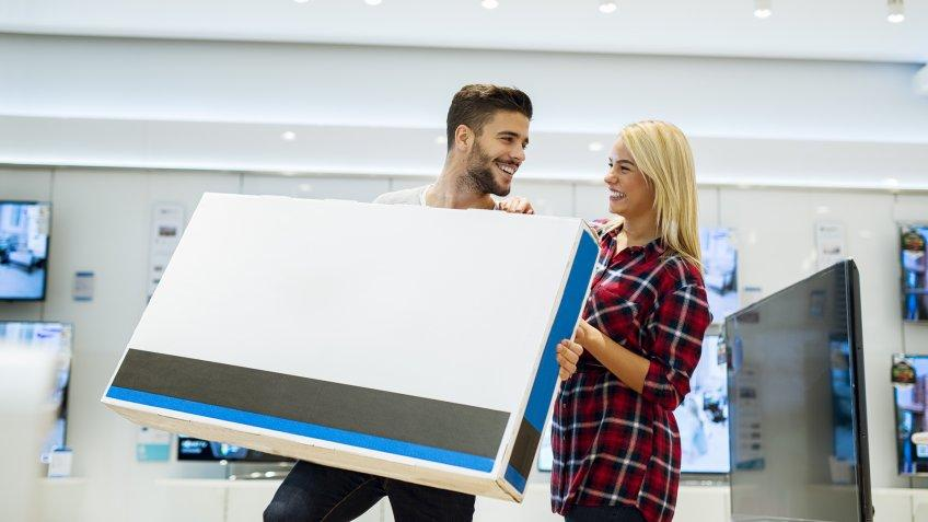 couple with television