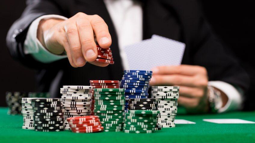gambling, poker, poker chips