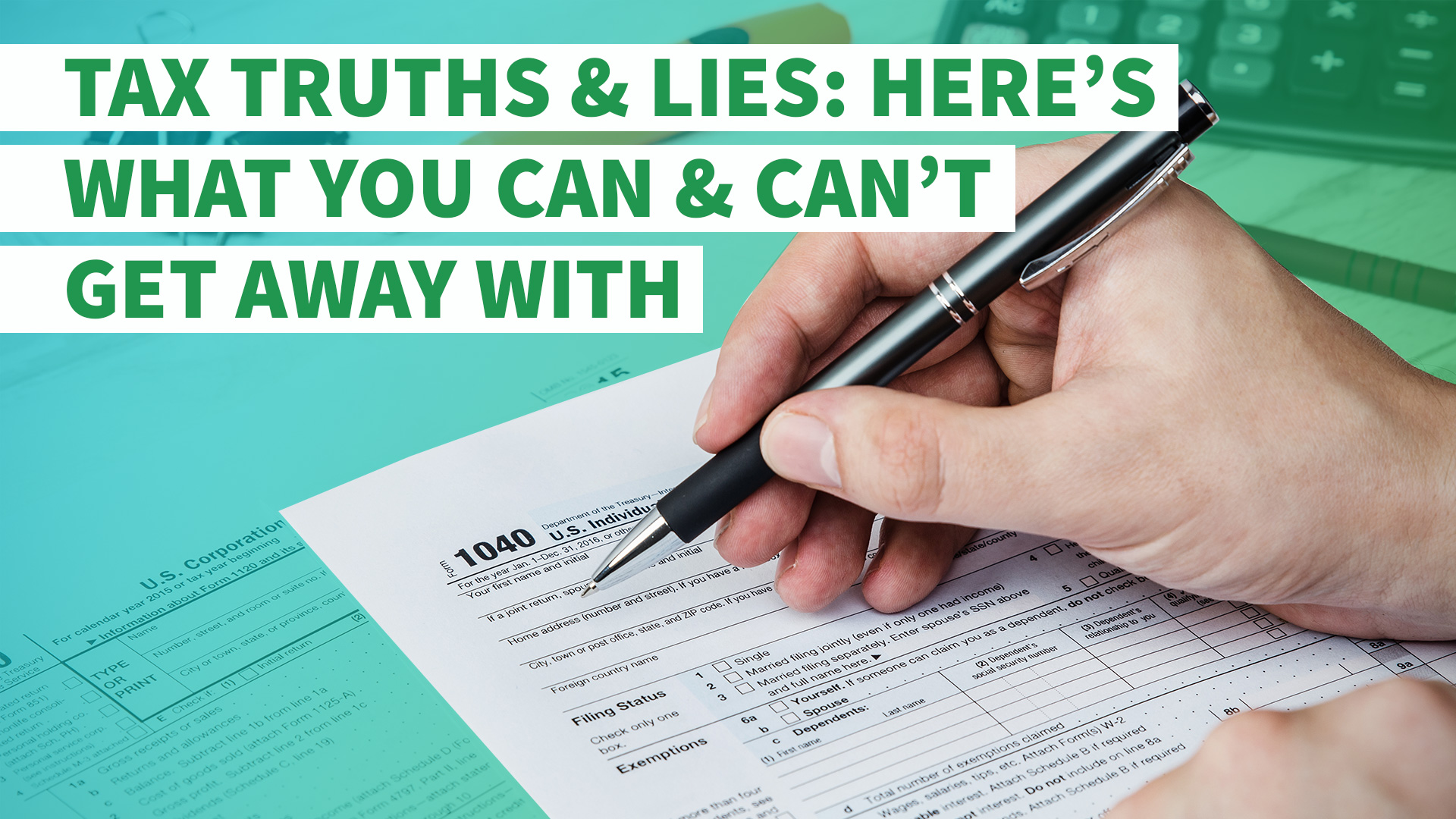 Tax Truths And Lies Heres What You Can And Cant Get Away With