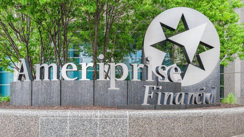 Ameriprise Financial bank sign