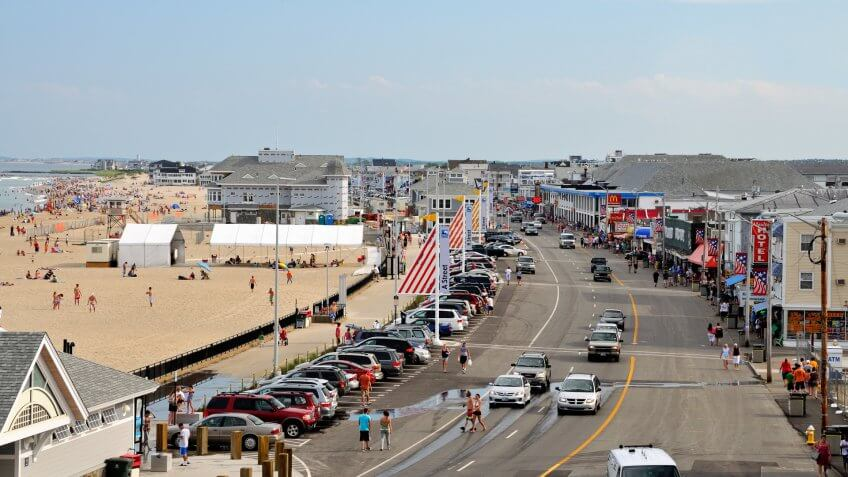 Hampton Beach, NH, USA - July 7, 2011: Ocean Blvd.
