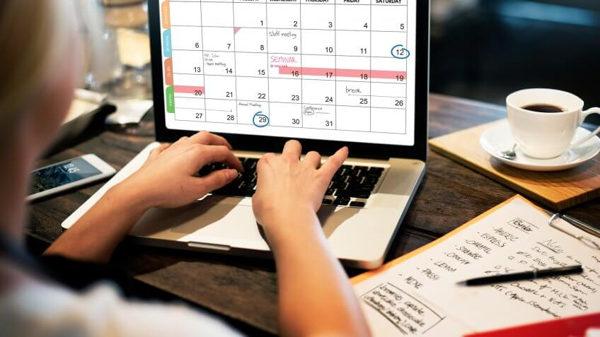 Calender Planner Organization Management Remind Concept.