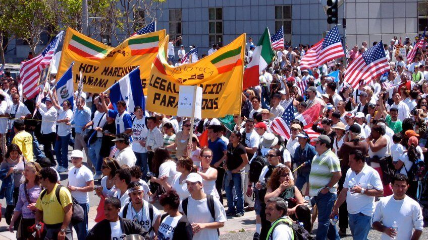 protesting for immigrants united states