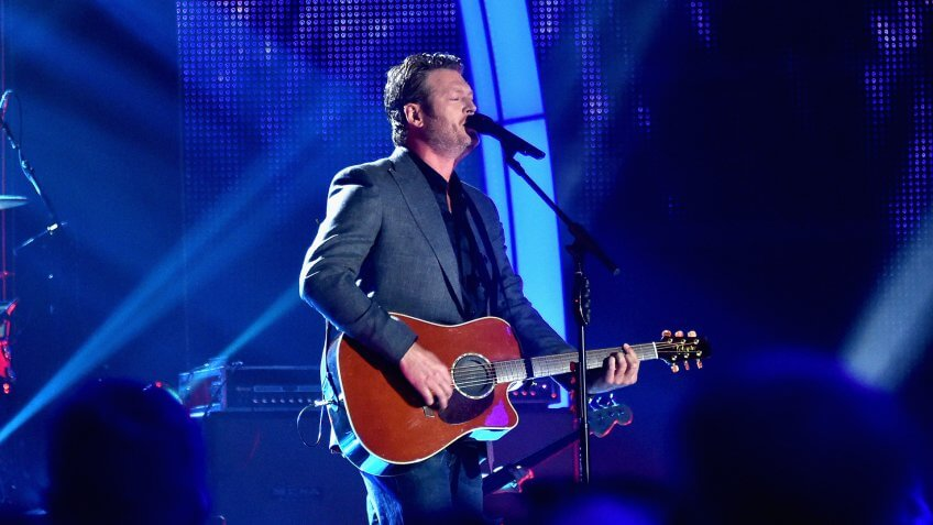 NASHVILLE, TN - JUNE 07:  Blake Shelton performs onstage during the 2017 CMT Music Awards at the Music City Center on June 6, 2017 in Nashville, Tennessee.