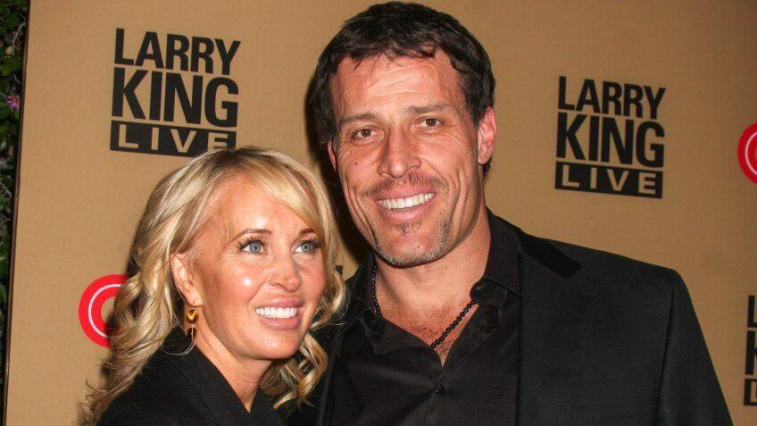 Tony and Sage Robbins at larry king live