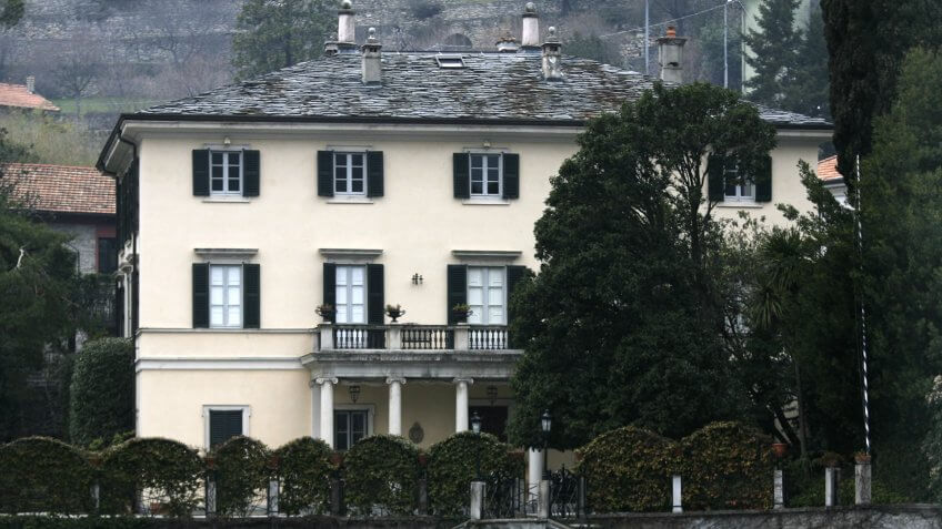 COMO, ITALY - MARCH 18: Villa Oleandra, owned by George Clooney, is seen on March 18, 2006 in Como, Italy.