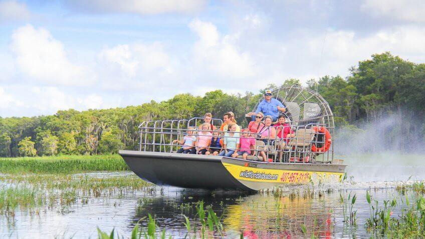 Wild Florida swamp boat