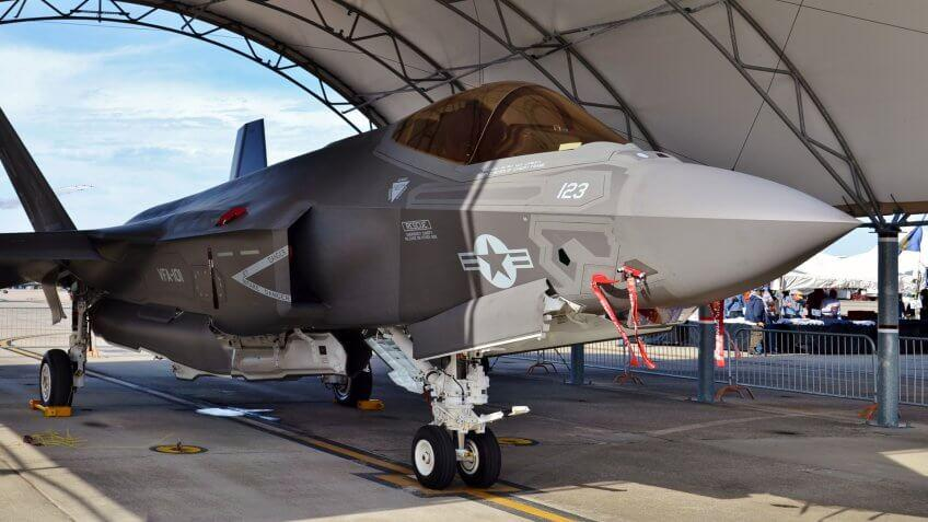 9. The price of a new F-35 jet has been reduced.