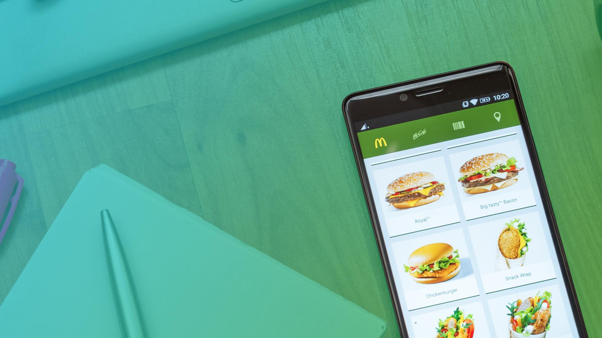 Image result for mobile ordering  mcdonalds